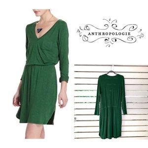COPY - Anthropologie Bordeaux Green Dress